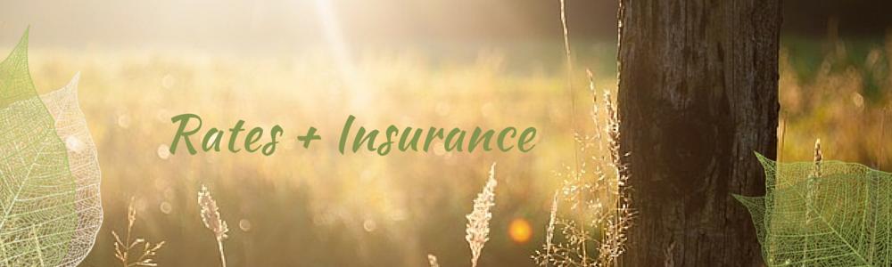 Rates + Insurance